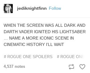 the only rival is the darth vader scenes in star wars rebels, particularly the Asoka fight