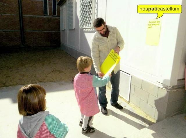 noupaticastellum by CoCreable. Proceso de co-creación del patio de la Escola Castellum de Sant Julià de Ramis (Girona).