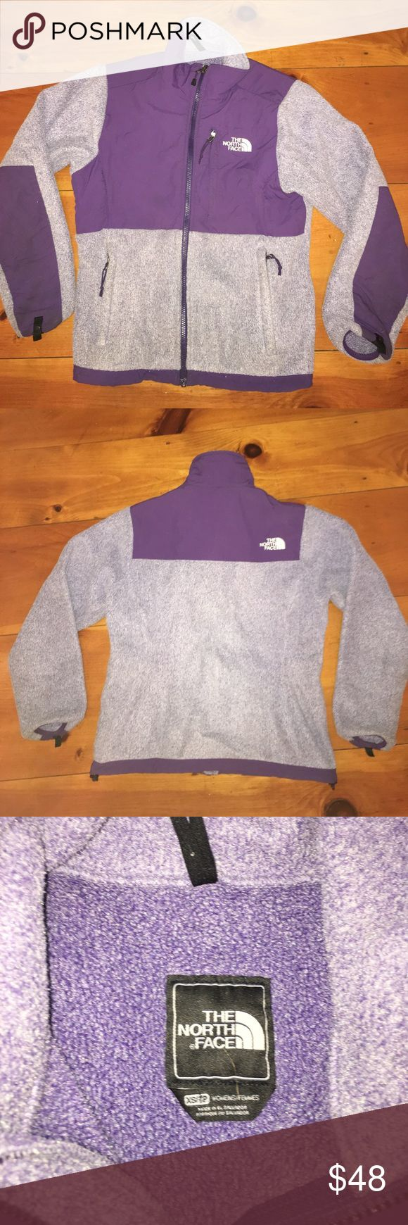 WOMANS NORTH FACE JACKET SIZE XS Woman's North Face Jacket size extra small. Has a full zipper and three pockets. Good condition. North Face Jackets & Coats
