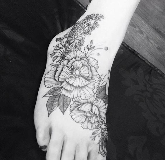 ... on Pinterest | Delphiniums Floral foot tattoo and Cherry blossoms