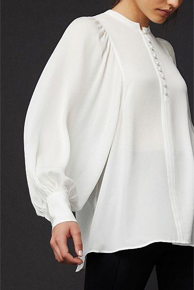 1ed5de7ad6260d OCRF Pearl Silk Shirt