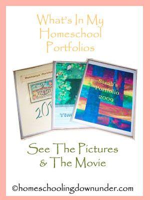How to make a homeschool portfolio
