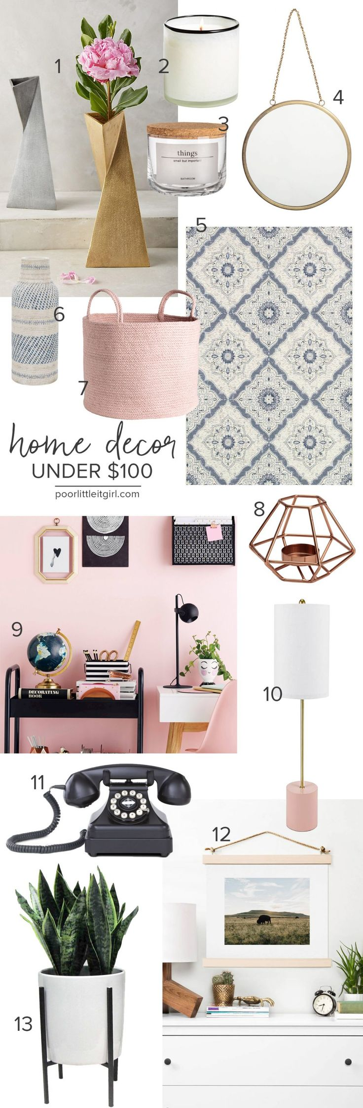 Easy Home Decor Updates Under $100 - Poor Little It Girl