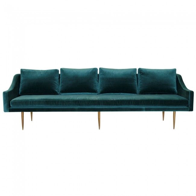 Florence C 4 Seater Velvet Sofa By Organic Modernism Clickon Furniture Loungeroom