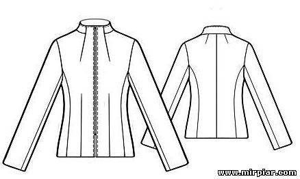 Стильная куртка. Выкройки бесплатно в натуральную величину