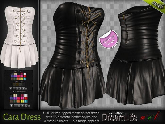 Cara Corset Dress* Rigged Mesh (HUD Driven) +Lolas tango appliers *DreamLife - FashionNatic*