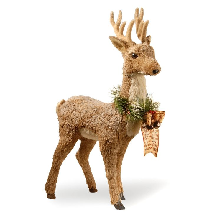National Tree Company Standing Brown Deer | from hayneedle.com