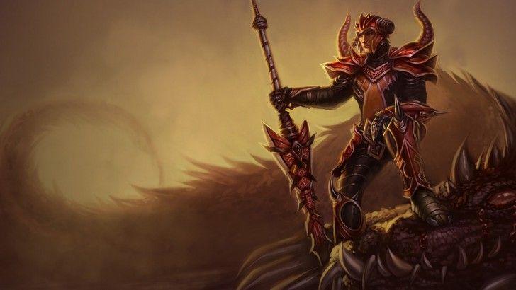 Download Jarvan IV Dragonslayer Skin Splash Art League of Legends 1366x768