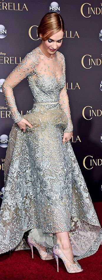 Lily James at the Cinderella Premier. The iconic shoe re-imagined for 2015. | cynthia reccord
