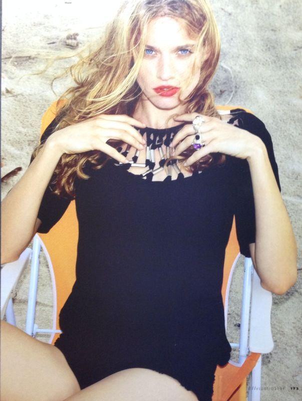 Maxi Rings featured in Elle July 2009 #ellemagazine #elleitalia #maxirings #summeraccessories #giuseppinafermi #gioielli #madeinitaly #elle