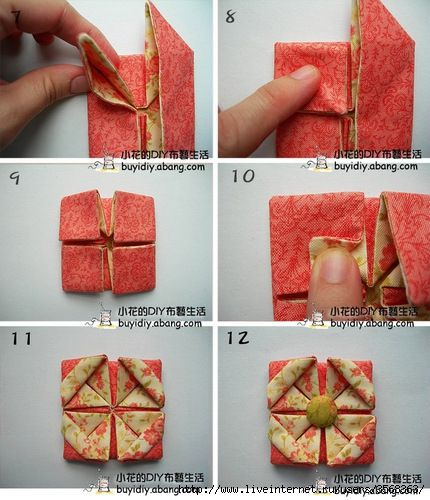 18 best images on pinterest fabric origami fabric flowers three dimensional folding flowers very easy to do mightylinksfo