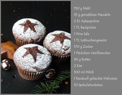 Meine grüne Wiese: Lebkuchen-Spekulatius-Walnuss-Muffins