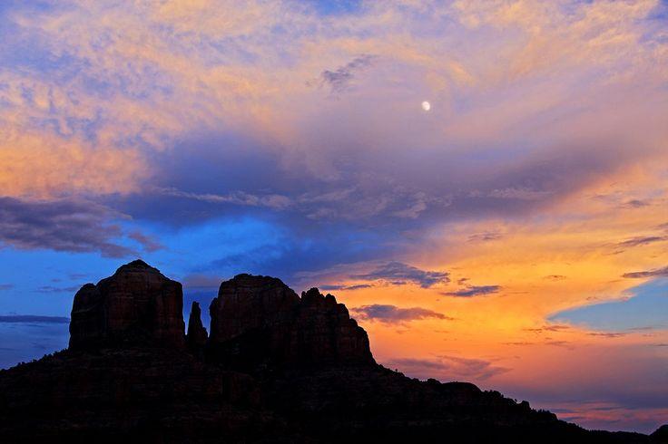 Moonrise Over Cathedral Rock Mike Koopsen