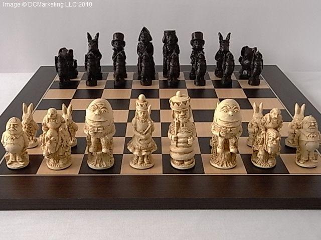 Charming Alice In Wonderland Chess Set