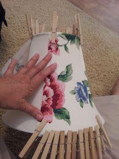Junk 2 Jewels - DiY!: NO Sew Lamp shade recover tutorial