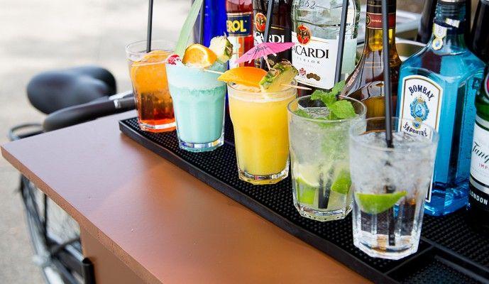 Cocktail-Bike, Cocktail-Fahrrad, mobile Cocktailbar Hannover › Cocktails & mehr