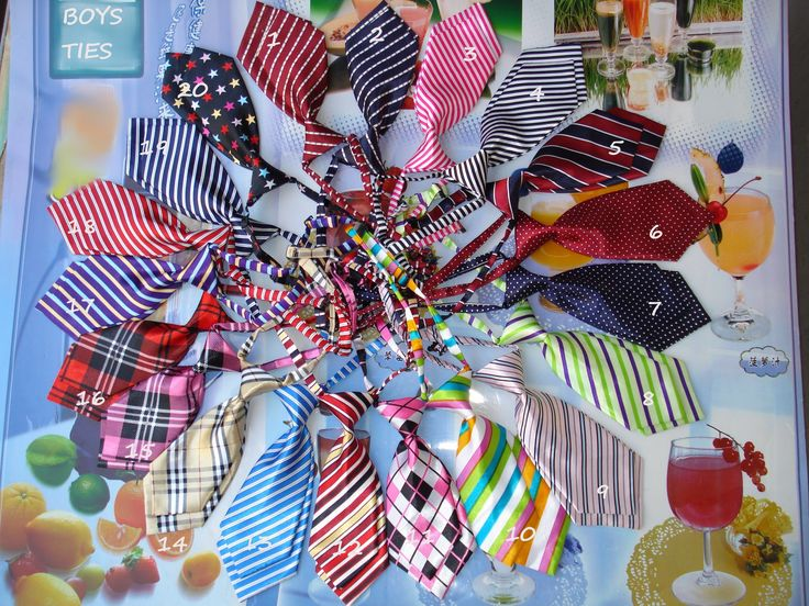 Boys Ties Dress up or casual Baby to Toddler Size 8 inches in length adjustable neck tie FOR GIRLS STYLES TOO  $2.50