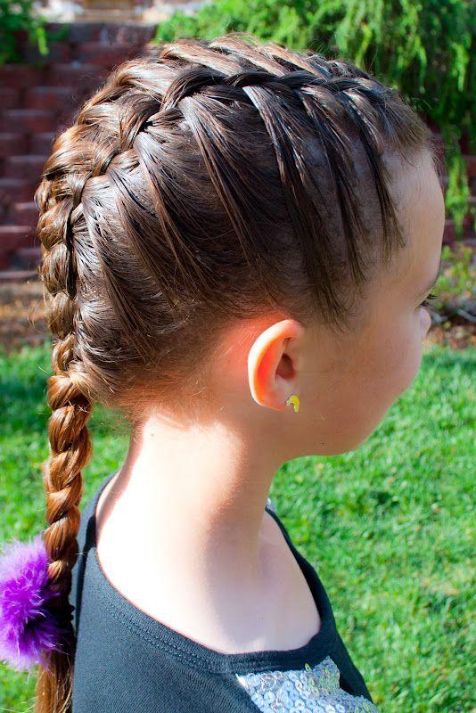 French braid on a child