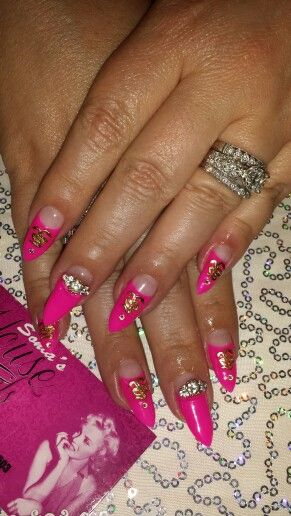 Gel manicure & charms