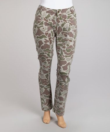 Take a look at this Land Camo Skinny Pants - Plus by Hybrid & company on #zulily today!