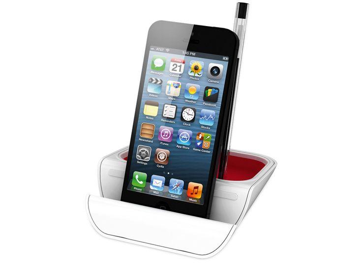 """Подставка настольная """"Standi"""" Удобный настольный органайзер прекрасно впишется в современный офис и будет отличным подарком для любого сотрудника. В подставке есть отделения для телефона или планшета, а также отделение для канцелярских принадлежностей. На пласт�"""