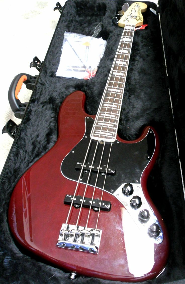 Fender American Jazz Deluxe 4 String Bass Electric Guitar