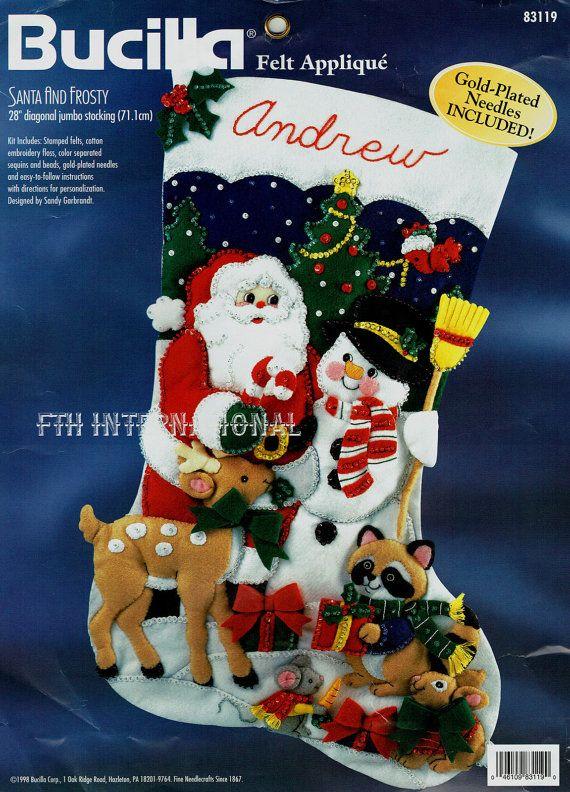Santa Bucilla y heladas  28 Jumbo fieltro Navidad Media