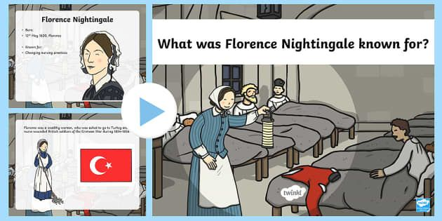 What was Florence Nightingale known for? Find out with this fantastic powerpoint! The powerpoint presentation features some key facts about Florence Nightingale and her most noted achievements.