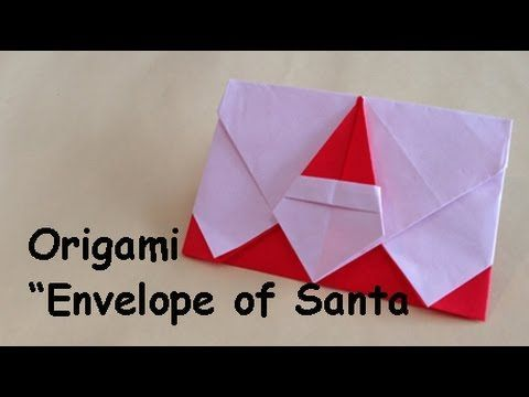 """Origami """"Envelope of Santa"""" サンタ封筒の折り方                                                                                                                                                                                 More"""