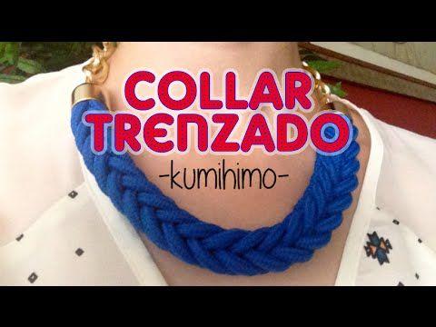 Tutorial para hacer un collar de moda: trenzado. Este trenzado es algo más moderno pero también es más dificil de hacer. Necesitais un telar de kumihimo y si...