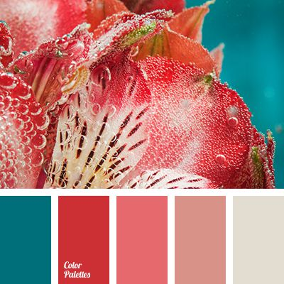 turquoise and red palettes with color ideas for decoration your house, wedding, hair or even nails .