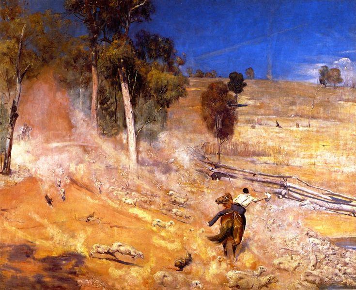 "tom roberts, a break away - Thomas William ""Tom"" Roberts was a prominent Australian artist and a key member of the Heidelberg School."