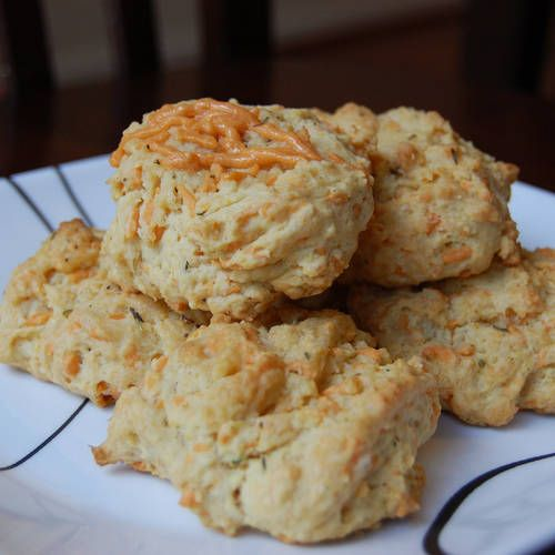 Vegan Garlic Cheddar Drop Biscuits  vegan, plantbased, earth balance, made just right