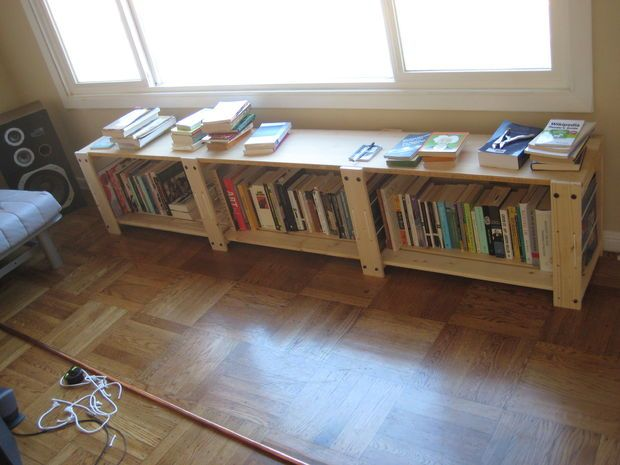 ikea gorm shelving hack into storage bench bench pinterest