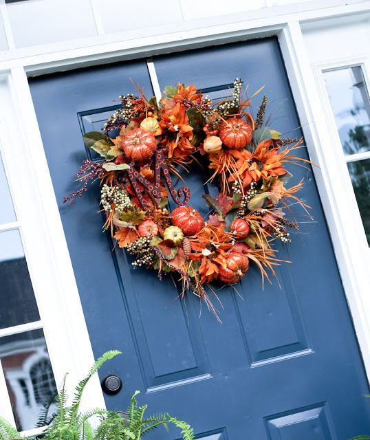 Fall Monogram Wreath   Scissors & Spatulas {and everything in between}Scissors & Spatulas {and everything in between}