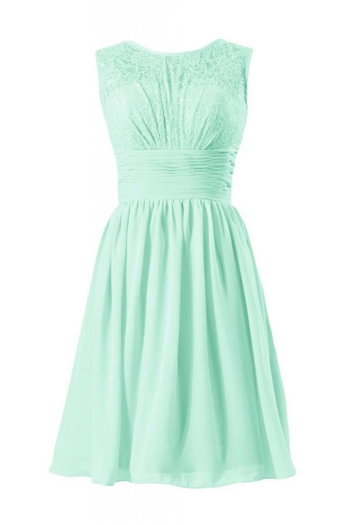 DaisyFormals Vintage Short Lace Bridal Party Dress Formal Dress(BM2529)- Tiffany Blue