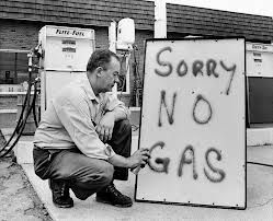 Oil Crisis-  the US aided Israel in the Yam Kippur War. The OPEC put an embargo on their oil, which made gas prices higher leading to the oil shock.