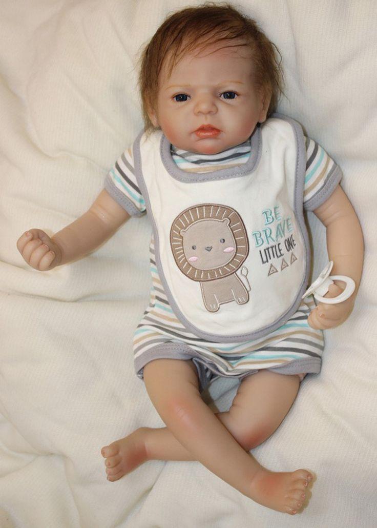 Pursue 53 cm Cheap Lifelike Baby Dolls Reborn Babies Silicone Reborn Toddler Baby Dolls for Adoption boneca bebe reborn menino #Affiliate