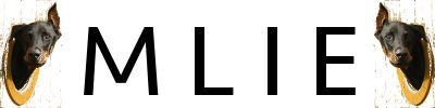 Bloggen Mlie handlar om livet med en vacker dobermanntös. I bloggen får vi läsa mycket om hundträning samt Annas och hennes mattes vardagsliv och intressanta observeringar de gör i till exempel hundparken. På bloggen hittar man även väldigt intressant statistik om dobermannen.