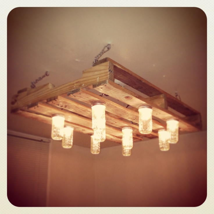 mason jar chandelier jar chandelier and pallets on pinterest build diy mason jar chandelier