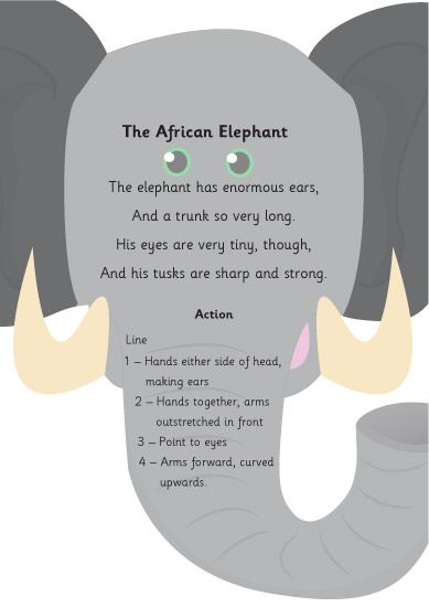 The African Elephant Poem - perfect for jungle topic in EYFS