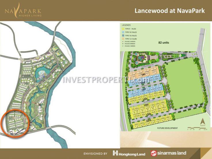 Site Plan Cluster Lancewood Nava Park BSD #sinarmasland #hongkongland #navaparkbsd