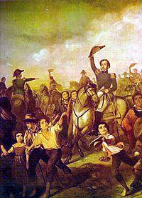 """""""A Declaração da Independência"""". (by François-René Moreau)."""