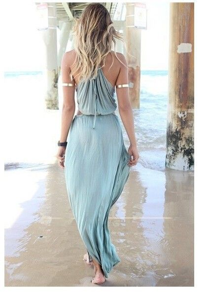 2016 Бесплатная доставка Мода пляж макси платье черный оранжевый голубой CUT OUT длинные платья лета женщин повседневные платья пляжная одежда купить на AliExpress