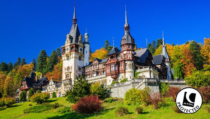 Bucharest, Romania: 2-4 Night Hotel Stay With Flights and Optional Tour - Up to 47% Off Revel in Romania with a 2-3 night stay in Bucharest at the Hotel Michelangelo                  Each room has Wi-Fi, air conditioning, a satellite TV and an en suite                  Option to add on a day trip to Dracula's Castle, Brasov and Peles Castle for 70 poundpp                  Back in Bucahrest,...