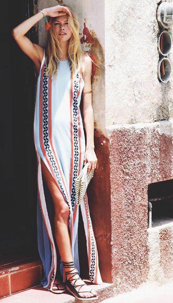 Just Cavalli Kiss Print Maxi Dress #Shopbop