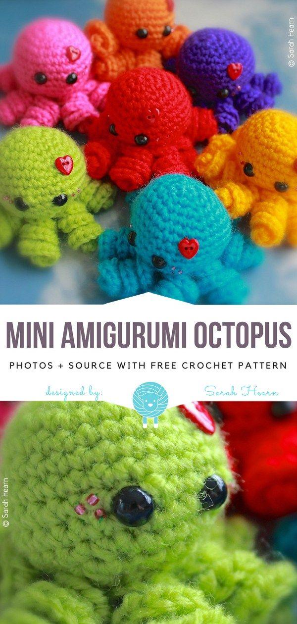 Amigurumi octopus - free pattern | Free pattern: www.lilleli… | Flickr | 1260x600