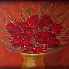 Red flowers by hints4art