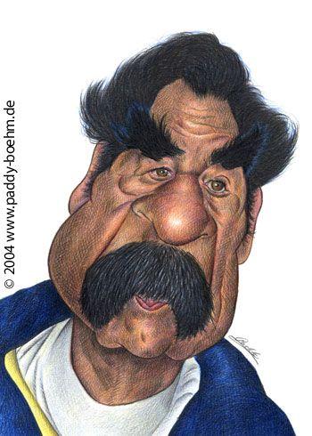 Saddam Hussein artist: Patrick Mark Bohm