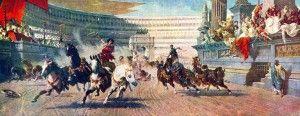 Bizans döneminde başkent Konstantinopolis'teki araba yarışları ve takımlar. Maviler ve Yeşiller ezerli rakiplerdi.